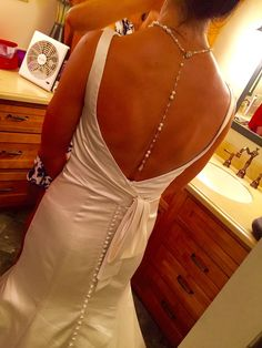 Alfred Angelo bridal dress - back necklace on Etsy