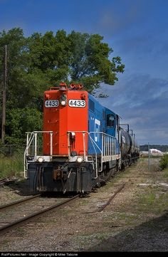 RailPictures.Net Photo: 4433 Marquette Rail EMD GP9 at Manistee, Michigan by Mike Tabone