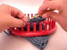 loom knit Bind Off: Single Crochet