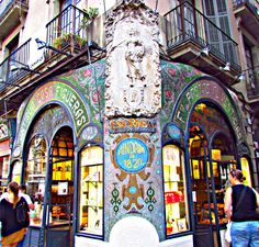 The best pastry shop in Barcelona. We have eaten there. Shopping In Barcelona, Barcelona City, Barcelona Catalonia, Barcelona Travel, Modernisme, Antoni Gaudi, Spain And Portugal, Most Beautiful Cities, Spain Travel
