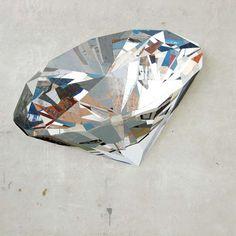 diamond in found wood (mosaic) by ron van der ende