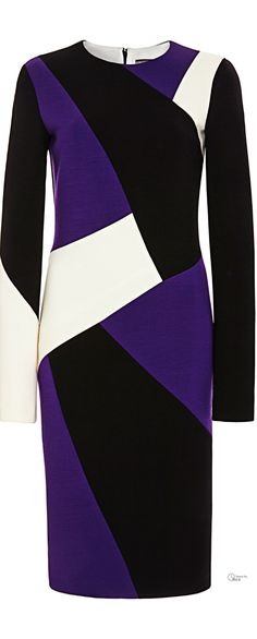 Fausto Puglisi ● Pre-Fall 2014, Sheath Dress. A classic cut, but the color blocking makes it edgy.  Love this.