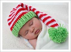 Örgü Bebek Şapkaları k