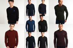 New Mens Superdry Knitwear Selection - Various Styles & Colours