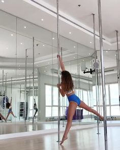 Pole Fitness Moves, Pole Dance Moves, Pole Dancing Fitness, Barre Fitness, Fitness Exercises, Pole Dancing Clothes, Pole Dance Outfit, Home Dance Studio, Dance Flexibility Stretches