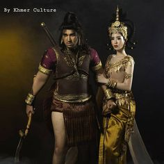Model by Ms.Jimmy Meng & Mr.Chomnou Traditional Looks, Traditional Dresses, Cambodia, Samurai, Wonder Woman, Costumes, Superhero, Amazing, Model