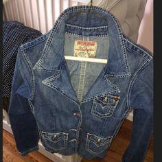 True religion denim jacket Worn twice True Religion Jackets & Coats Jean Jackets
