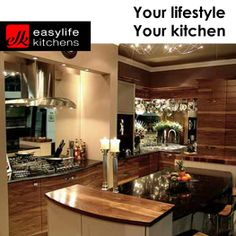 Easylife Kitchens - manufacturer of ready-to-assemble kitchen cabinets and modular built-in cupboards of quality Kitchen Inspirations, Beautiful Kitchens, Wooden Kitchen, Cool Kitchens, Home, Kitchen And Bath, Kitchen Remodel, Contemporary Kitchen, Built In Cupboards