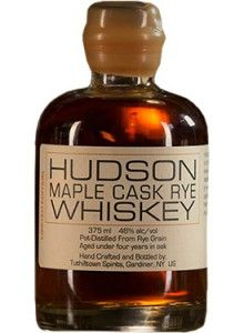 Hudson Maple Cask Rye #Whiskey.  Aged for under four years in American oak casks, this rye is finished in maple syrup-cured whiskey barrels. | @Caskers
