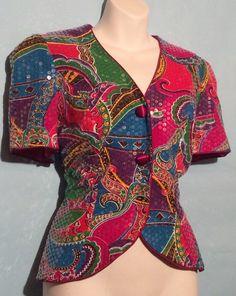 Multi Color Sequin Blazer Size 12