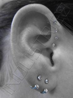 Love the earrings they put in the lobes