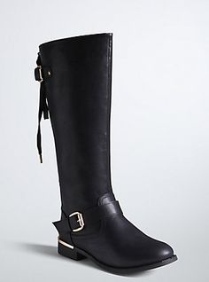 Lace Up Back Knee Boots. These are one of the most beautiful pairs of boots I've ever seen. I'm in love!