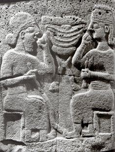 Hititte, Relief,drinks and food scene, Zincirli (Samat),İstanbul Archaeology Museum (Kurt Bittel) (Erdinç Bakla archive)