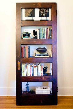 shelves made of wood door