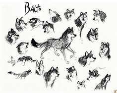 Living Lines Library: Balto (1995) - Character Studies