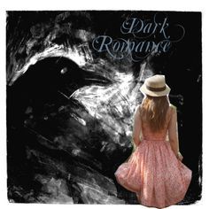 Dark Romance #dark #romance #crow #black #pink #dress #strawhat