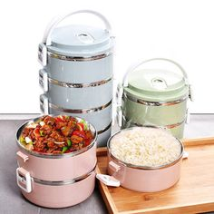 1/2/3/4 Layers Stainless Steel Thermal Insulated Lunch Box Bento Food Storage Container Maccaron Cheap - NewChic Mobile.