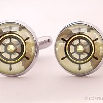 Ster - spinki do mankietów - 0715, akcesoria - biżuteria