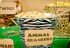 "Photo 10 of Safari / Jungle / Birthday ""Safari Birthday Party"" Safari Party, Festa Safari Baby, Jungle Theme Parties, Jungle Theme Birthday, Safari Birthday Party, Animal Birthday, 1st Birthday Parties, Jungle Party, Safari Food"