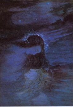 Daphne Allen - Night covers the World with her hair. c. 1914/1916