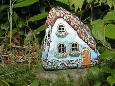 Painted Stone Houses by Klaudia Konrad