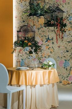 Wonderful Ceramic Tiles That Remind Of Wallpaper : Wonderful Cearmic Tiles With Dining Table