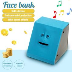 This funny face bank eats whatever you feed!Funny shape, plastic material, rich colors. Add a touch of fun to your savings!An extremely vivid face. Diy Gifts For Friends, Room Paint Colors, Things To Buy, Stuff To Buy, Plastic Material, Cool Inventions, Color Box, Couple Gifts, Shopping