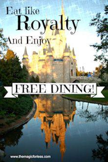 Free Dining offer at Walt Disney World #Disneyvacation #Discounts