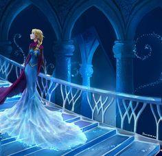 Elsa from Disney's Frozen let it go...