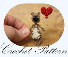 Crochet+Bear+Pattern+Amigurumi+Bear+Miniature+by+PinkMouseBoutique