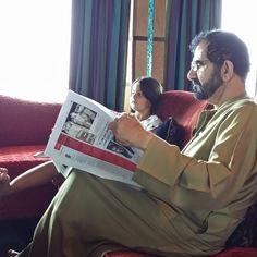 Al Jalila bint Mohammed bin Rashid Al Maktoum y su padre, Mohammed bin Rashid bin Saeed Al Maktoum, 26/05/2015. Vía: alarda
