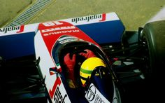 Ayrton Senna at the wheel of the Toleman in 1984