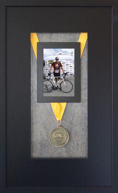 Our standard personalized custom shadow box prize awarded to Alabama Backroads Century Ride Series winners.