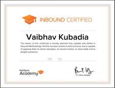 #Hubspot #Inbound Certified...!!!