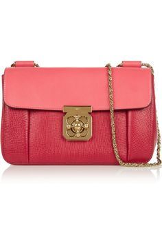 Chloé | Elsie medium textured-leather shoulder bag (=)
