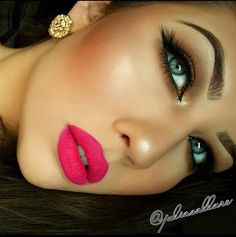 Gorgeous, but a little too much makeup and a little too Photoshoped