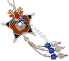 Reindeer Shooting Star Ornament Bead Pattern By ThreadABead