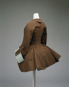 Riding coat, ca. 1760, British, silk, goat hair