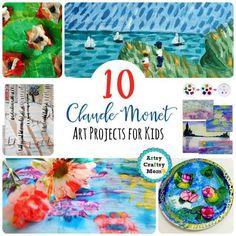 10 Claude Monet Art Projects for Kids