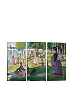 Georges Seurat Sunday Afternoon On The Island Of La Grande Jatte3-Piece Canvas Print