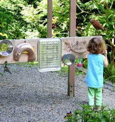 DIY Outdoor Sound Garden - great idea and fun for kids too! #DIY #Outdoors