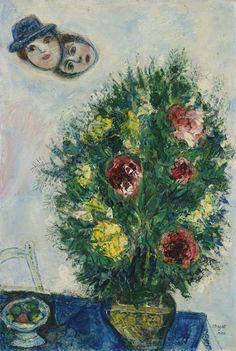 Têtes d'amoureux dans le ciel (1930) - Marc Chagall