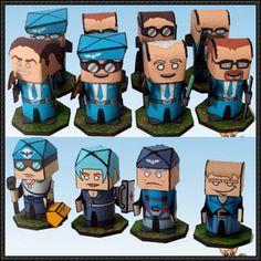 Flipit Blue Falcon Troops Free Paper Toys Download - http://www.papercraftsquare.com/flipit-blue-falcon-troops-free-paper-toys-download.html