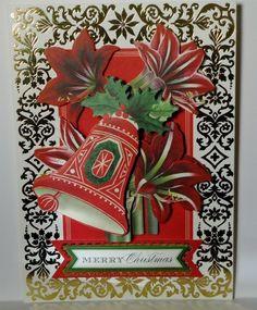 Christmas Bells Holiday Greeting Card ~ Handmade Anna Griffin Inspired  #Handmade #Christmas