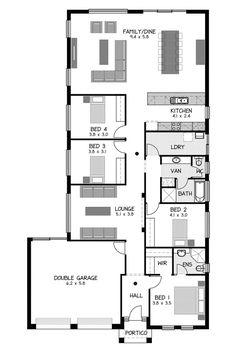 Rossdale Homes St Morris Floor plan Home Map Design, New Home Designs, Duplex House Plans, Duplex House Design, Filipino House, House Map, South Australia, Investment Property, Custom Design