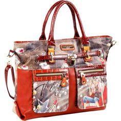 Nicole Lee Claire Blocked Euro Print Shoulder Bag (Thoughts Of You) Nicole Lee,http://www.amazon.com/dp/B00COYP0YG/ref=cm_sw_r_pi_dp_n2LGtb1GH342VT3V