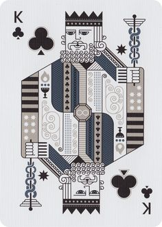 The King of Clubs from Sentinels Playing Cards