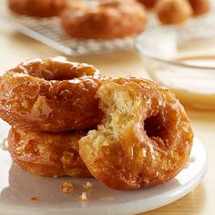 Fresh fried donuts at home - is there anything better for breakfast? Make the dough the night before for easy frying in the morning.