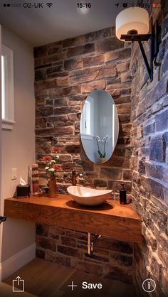 Powder Room Design, Pictures, Remodel, Decor and Ideas - page 51 Decor, Home Decor Trends, Powder Room Design, House Interior, Amazing Bathrooms, Trending Decor, Bathroom Design, Bathroom Decor, Rustic Vanity