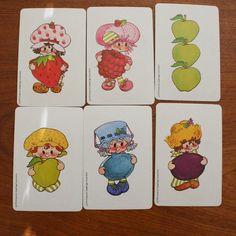 1980's strawberry shortcake vintage game card